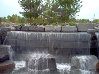 Waterfall - Concrete, Rock, Stainless Steel