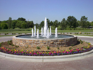 Pool Fountain - Cascade Fountain, Spray Ring Fountain, Architectural Fountain, Decorative Fountain